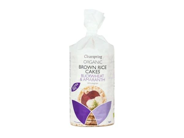 Organic Buckwheat & Amaranth Brown Rice Cakes