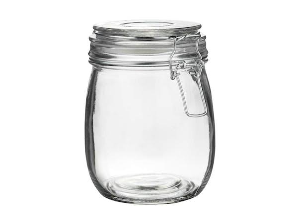 Storage Jar, Glass Lid (1 litre)
