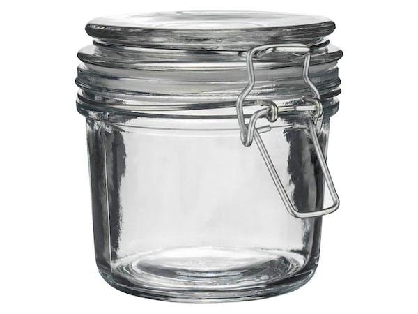 Zero Waste Storage Jar, Glass Lid (350ml)
