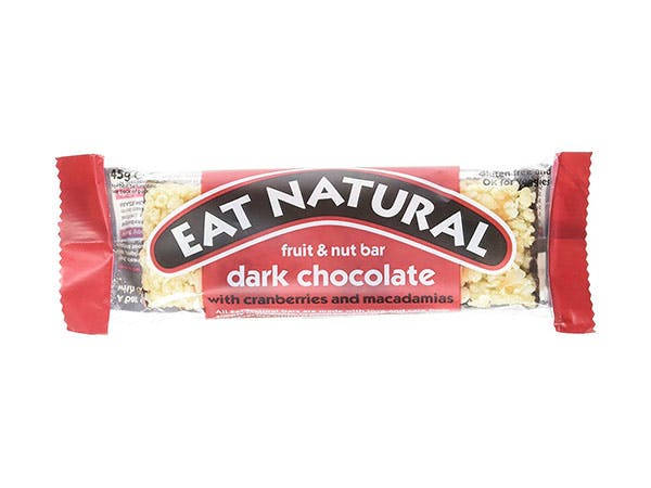 Eat Nat  Dark Chocolate Coated Cranberry Macadamia Bar