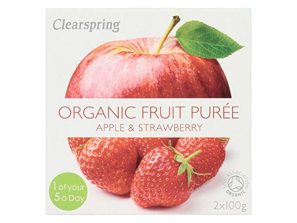 Clearspring  Apple & Strawberry Fruit Puree