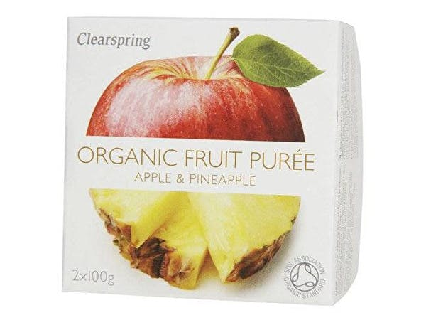 Clearspring  Apple & Pineapple Fruit Puree