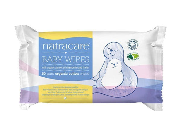 Natracare  Cotton Baby Wipes - Organic