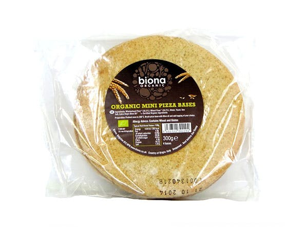 Biona  Mini Pizza Bases (4 Pack)