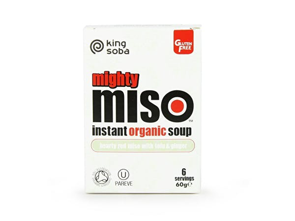 King Soba  Mighty Miso Tofu & Ginger Instant Soup