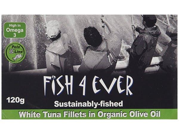 Fish 4 Ever  White Tuna Fish In Organic Olive Oil