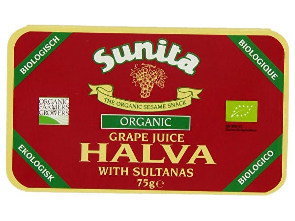 Sunita  Halva With Grape Juice & Sultanas - Organic