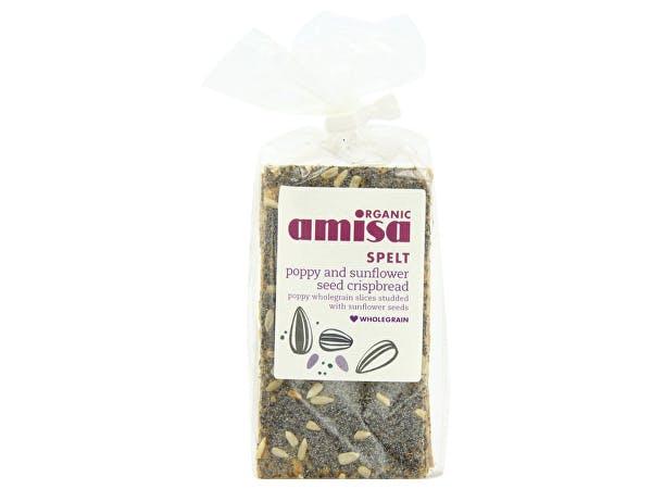 Amisa  Spelt Crispbread - Poppyseed & Sunflower