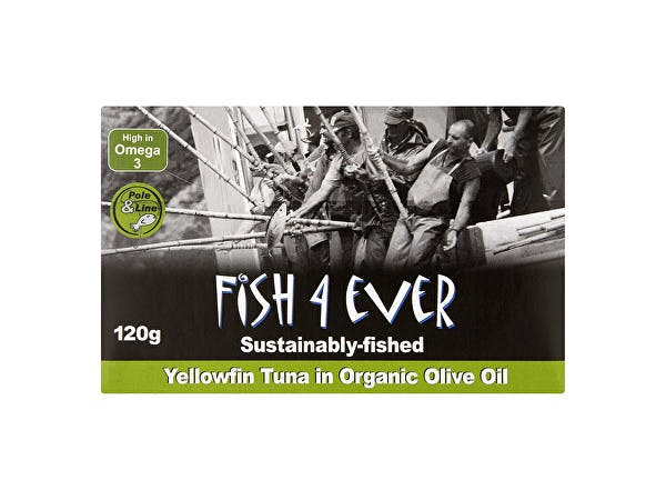 Fish 4 Ever  Yellowfin Tuna In Organic Olive Oil