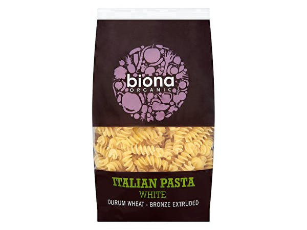 Biona  White Fusilli - Bronze Extruded