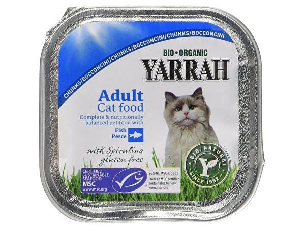 Yarrah  Cat Food - Chicken & Mackerel Chunks  With Spirulina