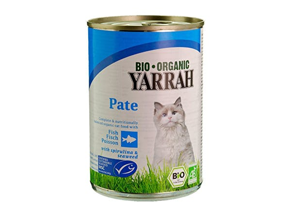 Yarrah  Cat Food - Msc Fish Pate With Spirulina & Seaweed