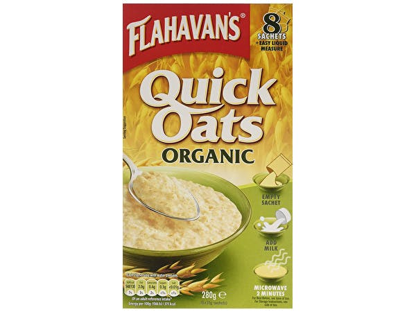 Flahavans  Quick Oats Organic Porridge Sachets - (8 Pack)