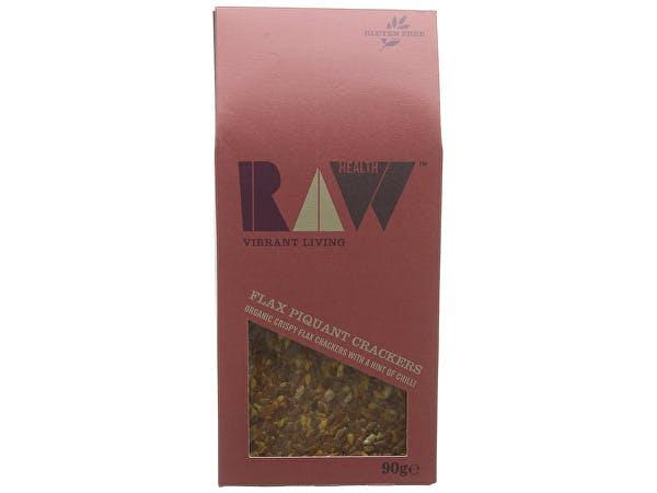 Raw Health  Flax Piquant Tomato Raw Crackers