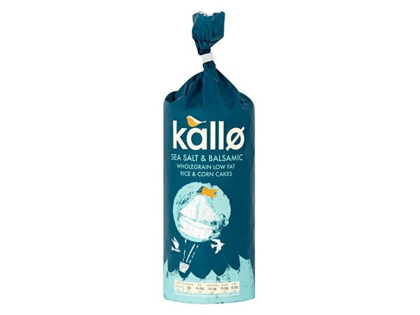 Kallo  Jumbo Sea Salt & Balsamic Vinegar Rice Cakes
