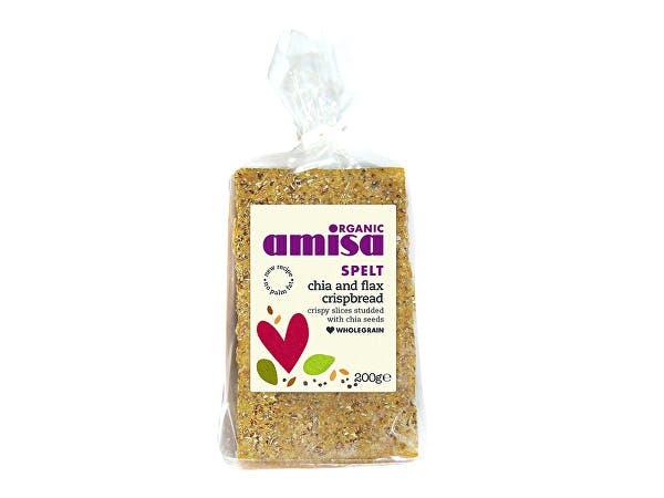 Amisa  Spelt Crispbread - Chia Seed & Flax Omega