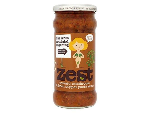 Zest  Tomato Mushroom & Green Pepper Pasta Sauce