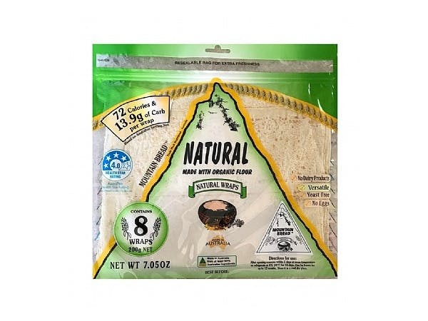 Natural Wraps Made with Organic Flour