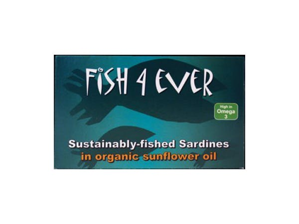 Fish 4 Ever  Whole Sardines In Organic Sunflower Oil