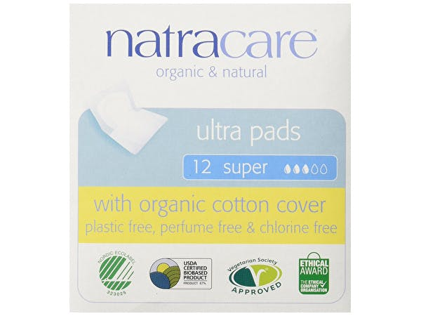 Natracare  Natural Ultra Pads Super With Wings