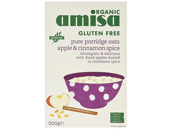 Amisa  Pure Porridge Oats - Apple & Cinnamon Spice