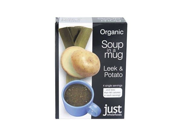 Just Wholefoods  Soup In A Mug - Leek & Potato