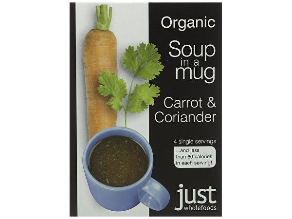 Just Wholefoods  Soup In A Mug - Carrot & Coriander
