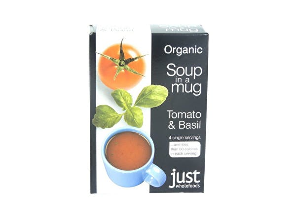 Just Wholefoods  Soup In A Mug - Tomato & Basil