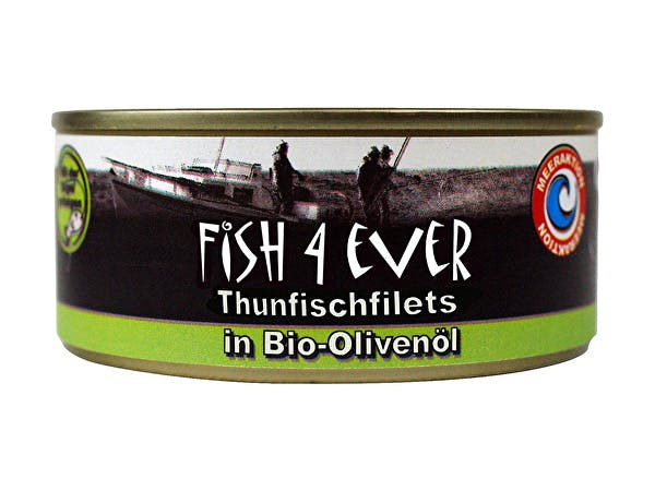 Fish 4 Ever  Skipjack Tuna Chunks In Olive Oil