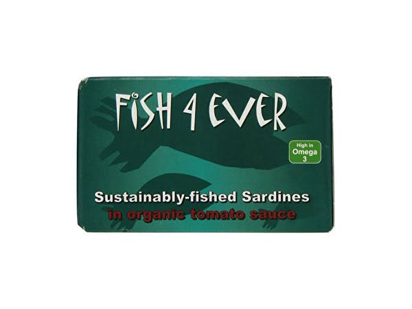 Fish 4 Ever  Msc Whole Sardines In Organic Tomato Sauce