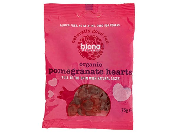 Biona  Pomegranate Hearts - Vegan