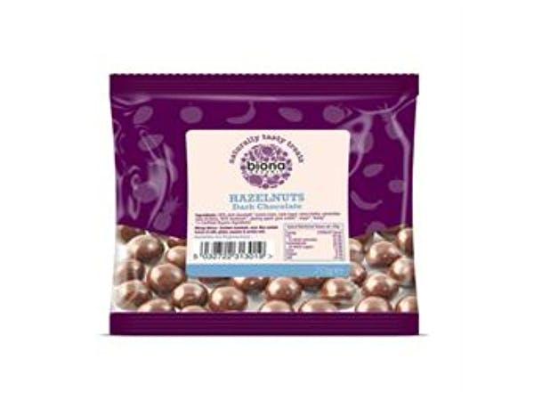 Biona  Plain Chocolate Covered Hazelnuts