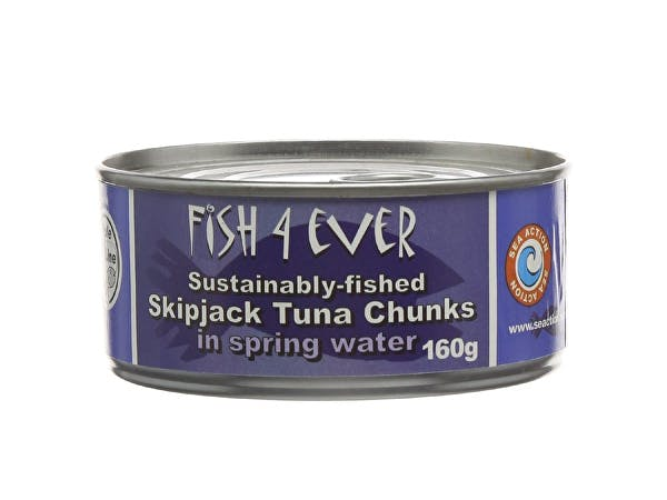 Fish 4 Ever  Skipjack Tuna Chunks In Spring Water