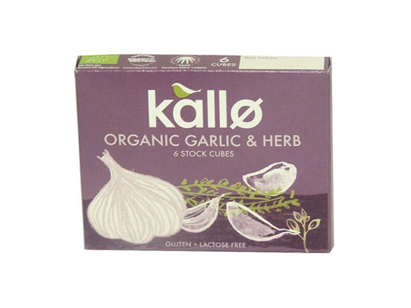 Kallo  Garlic & Herb Stock Cubes - Organic