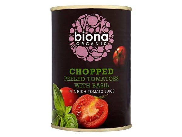 Biona  Tomatoes - Chopped With Basil