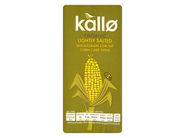 Kallo  Wholegrain Lightly Salted Corn Cakes - Organic