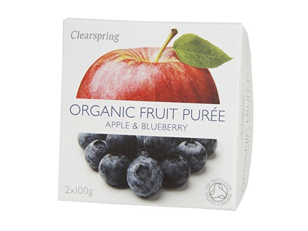 Clearspring  Apple & Blueberry Fruit Puree
