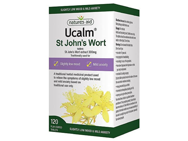 Natures Aid  Ucalm 300mg (St Johns Wort) Tablets