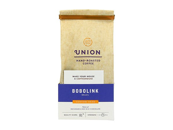Union Coffee  Bobolink Brazil Ground