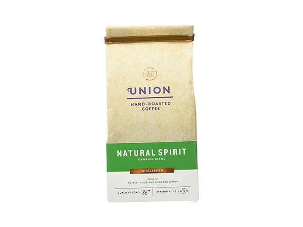 Union Coffee  Natural Spirit Organic Blend Whole Bean