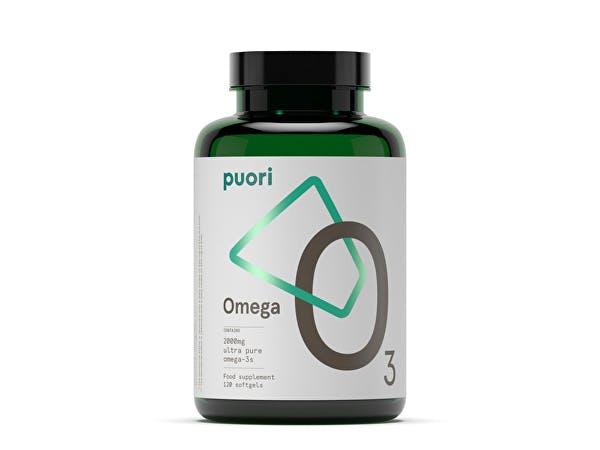 Puori  O3: 2000mg Omega 3 - Ultra Pure Fish Oil Softgel