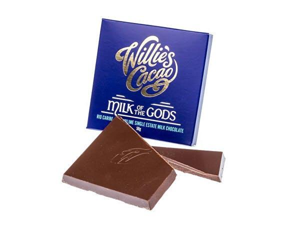 Willies  Milk Of The Gods Rio Caribe 44 Milk Chocolate