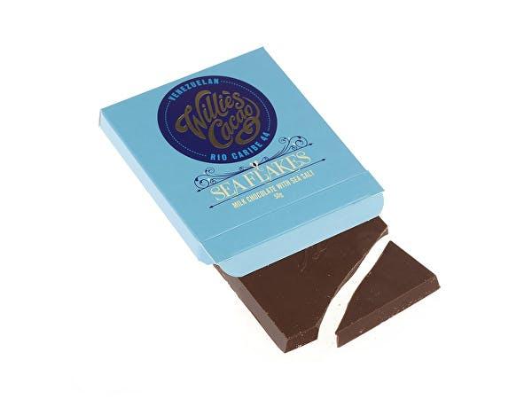Willies  Sea Flakes 44 Milk Chocolate With Sea Salt