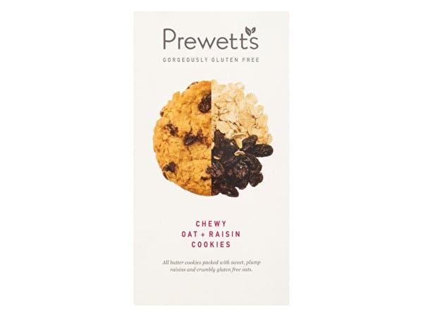 Prewetts  Gluten Free Chewy Oat & Raisin Cookies