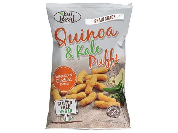 Eat Real  Quinoa Kale Puffs Jalapeno Flavour