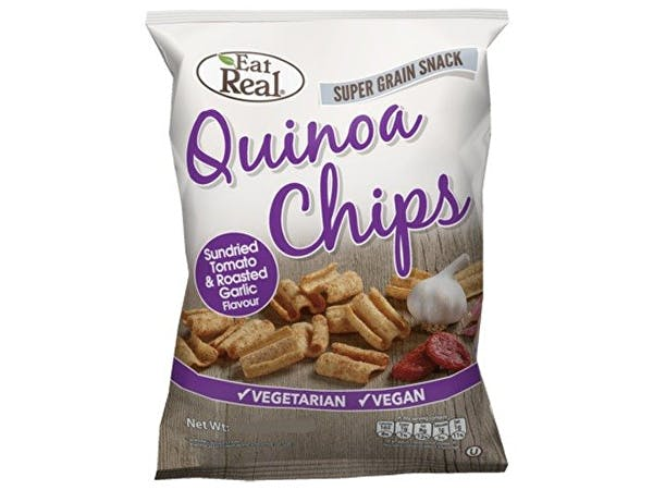 Eat Real  Tomato Garlic Quinoa Chips