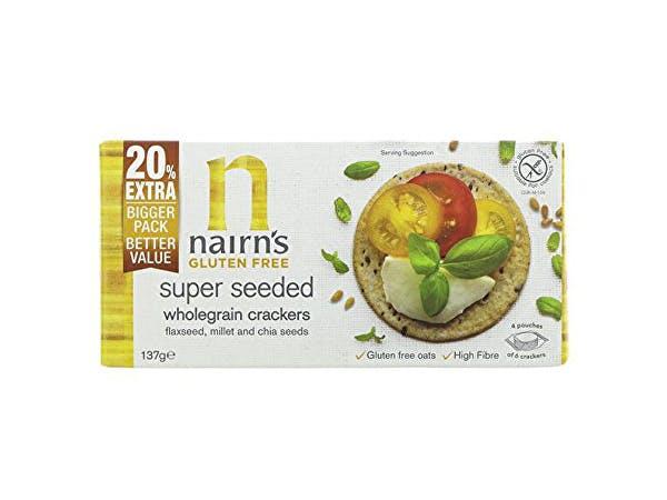 Nairns  Gluten Free Super Seeded Wholegrain Crackers
