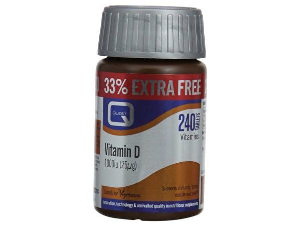 Quest  Vitamin D 1000Iu - Extra Fill