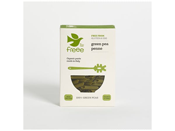 Freee 100% Green Pea Penne Organic Pasta Shapes