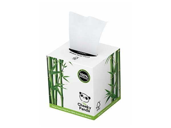 Sustainable Bamboo Facial Tissues - Cube